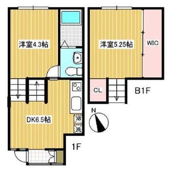 一部屋一部屋は狭めなんですが、トータル広い