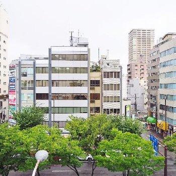 お部屋からの眺望、上本町!