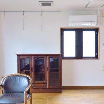ヴィンテージの家具がよく似合います。
