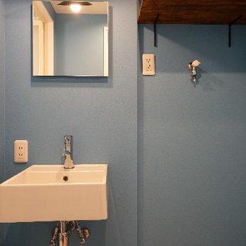 洗面台のクロスの色がいいです♪