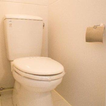 専用のスペースに収まったトイレ