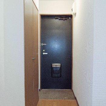 廊下にも収納があるのだ