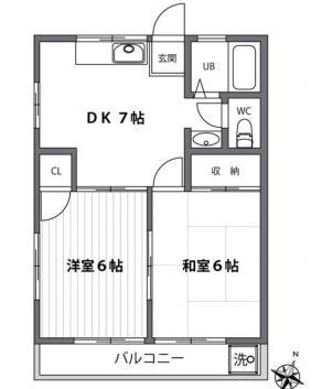 仙川14分アパート の間取り
