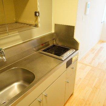 キッチンはIH1口ですが、ゆったりサイズ♪