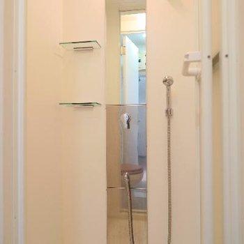 トイレの奥はシャワールーム!