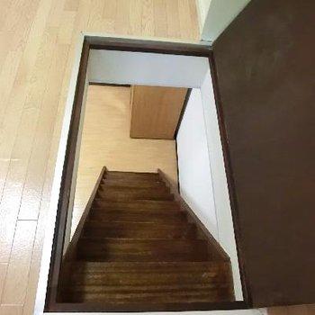 ジャーン!階段が現れた!!