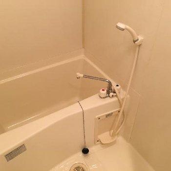 お風呂はこじんまり。だけど浴室乾燥つき!