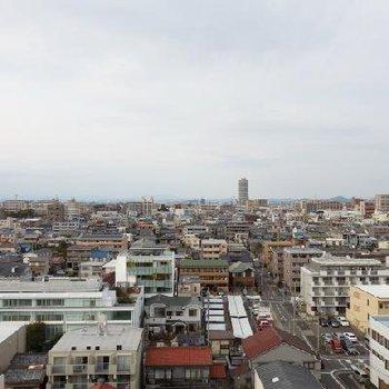 北区の住宅街の光景!※写真は10階からのもの