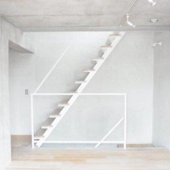 わくわく、ルーフバルコニーへの階段♪