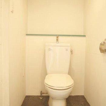 トイレには時代を感じますね※写真は別部屋