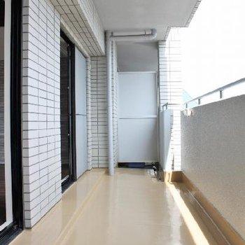 バルコニーの床は塗りなおされていて綺麗です。
