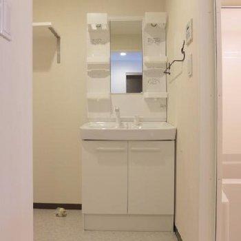 洗面台も大きめで使い勝手◎