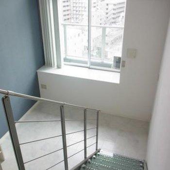 階段の上から※写真は別室
