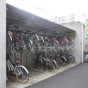 自転車置場はこちらです※写真は別室