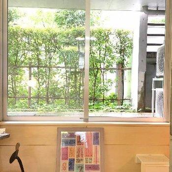 窓の風景!お部屋から電車は見えないようになっています。