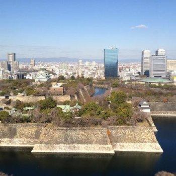 大坂城が一望できます!!