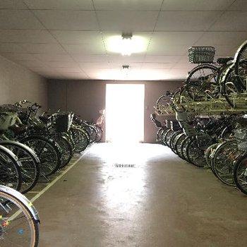 駐輪場も大きいスペースでありました!