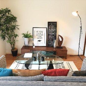 家具をおいたイメージです!テレビなんかを置いても良さそうですね!