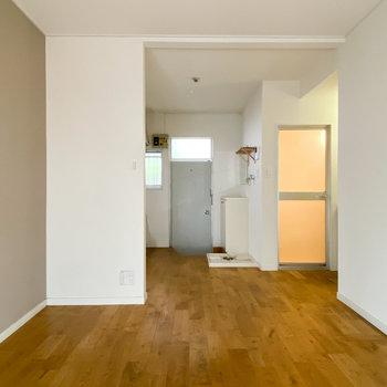 居室の使用スペースとしては約7畳 ※写真はクリーニング前です