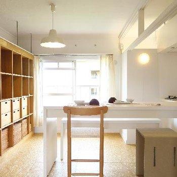 無印の家具が一段と似合うお部屋。※写真はモデルルーム