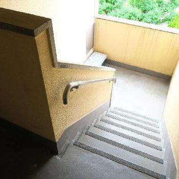 階段で頑張りましょう!