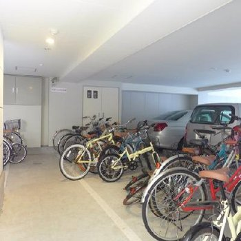 大事な自転車、屋根付きは安心