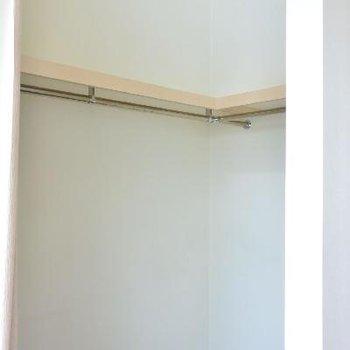 ウォークインクローゼットも天井高い※画像はクリーニング前のものです