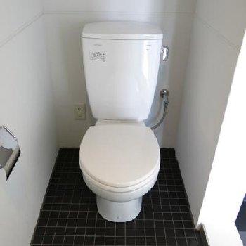 シャワーブースとトイレは一緒の空間です。