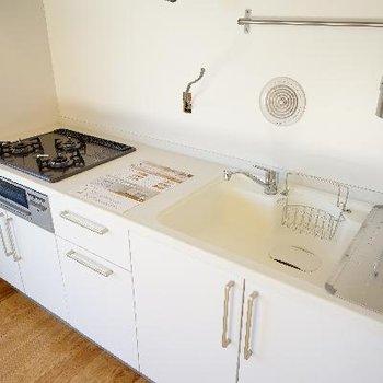 キッチンもこのゆったりサイズはうれしい◎