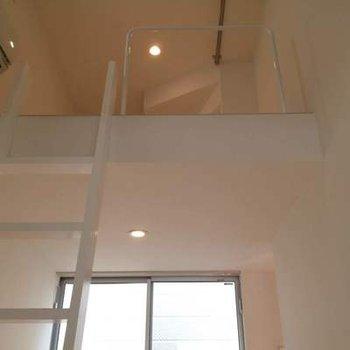ロフトへの階段、わくわく