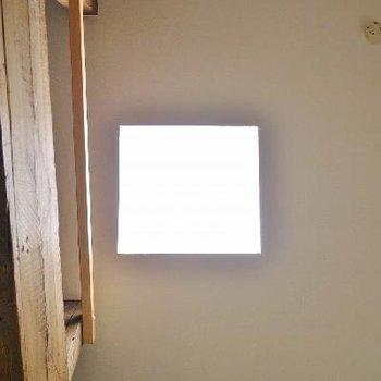 写真には写らないけど天井にスケルトンの瓦。
