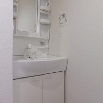 大きめ洗面台が使いやすい