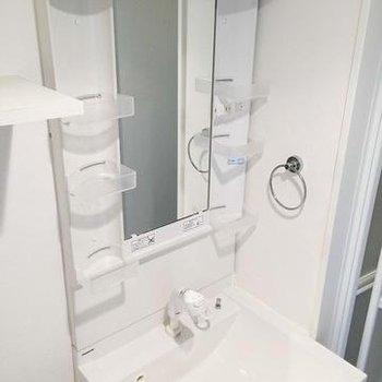 洗面台も大きめです。※写真は別部屋