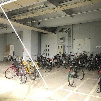自転車もこのとおりです
