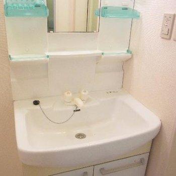 ノーマルな独立洗面台。