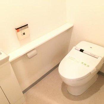 トイレ。横の棚が人的にお気に入りです