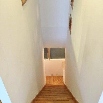 階段は少し急です!でも、階段で床面積削られるより良いと思いませんか!?