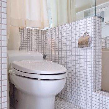 トイレはこちらです。