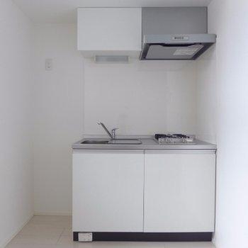 キッチンが2口ガスコンロ※写真は別部屋