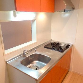 キッチンはオレンジ