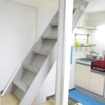 こちらから2階へ・・・