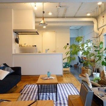 カウンターキッチンが特徴的なお部屋です。 ※写真は前回募集時のもの、家具はイメージになります