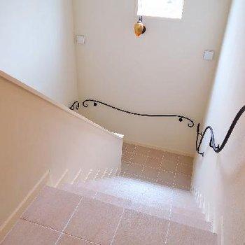 くるくるんってなってる階段可愛らしい〜。