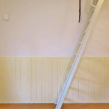 この梯子でロフトへGO!