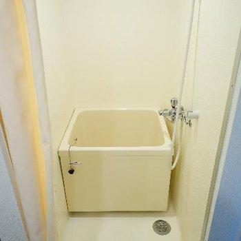 お風呂がとてもコンパクト。