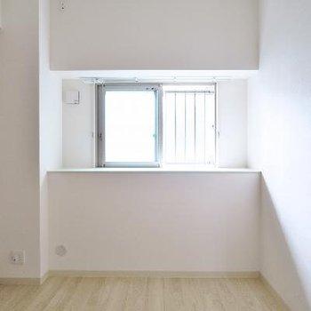 出窓っぽい空間になっています。