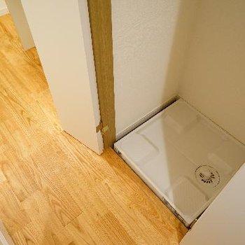 廊下に洗濯機を。隠せます!