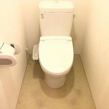 トイレ。ウォシュレットもきっちりついていますよ♪