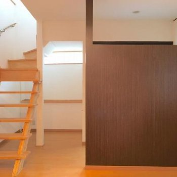 階段がお部屋のアクセント