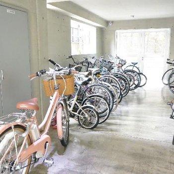 自転車置き場は、普通でした